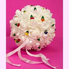 Alfiletero Bouquet Blanco Grande