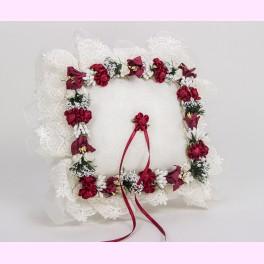 Cojín para Alianzas Flores Rojas y Blancas