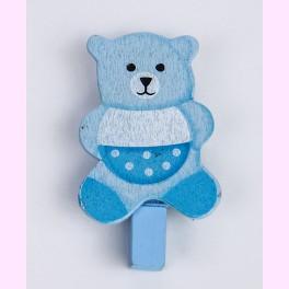 Pinzas Bebé Osito Azul