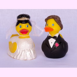 "Pareja de Patitos de Goma ""Just Married"""