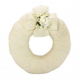 Corona de Yute Blanco Roto para Boda