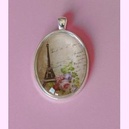 "Colgante Liso Color Plata ""Torre Eiffel Vintage"""