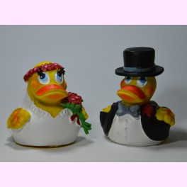 """Pareja de Patitos de Goma """"Wedding Cuac"""""""