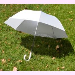 Paraguas blanco para novia